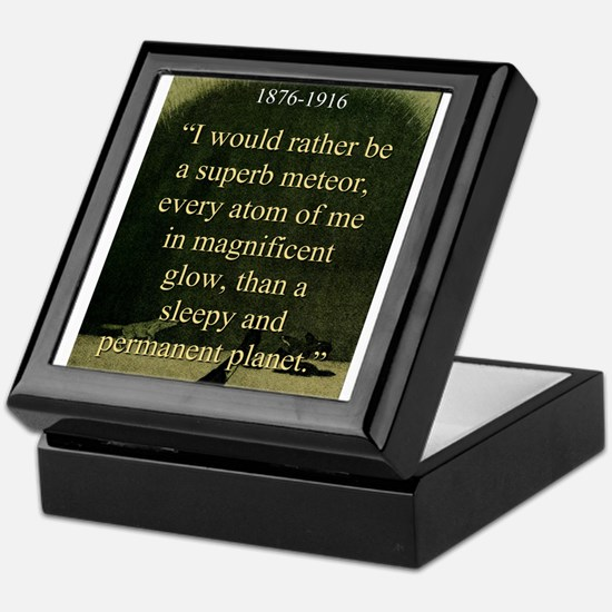I Would Rather Be A Meteor - London Keepsake Box