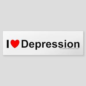 Depression Sticker (Bumper)