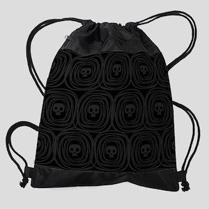 Skulls Pattern Drawstring Bag