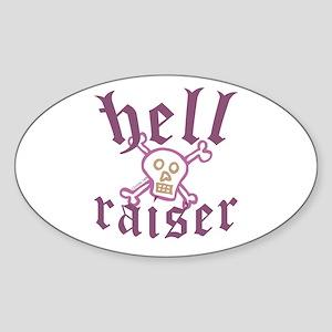 Hell Raiser Funny Oval Sticker