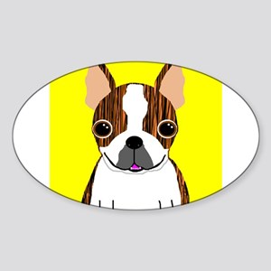 Boston Terrier (Brindle) Rectangle Sticker