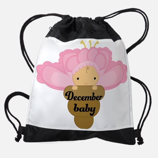 Cute December Girl Baby Pregnancy Drawstring Bag