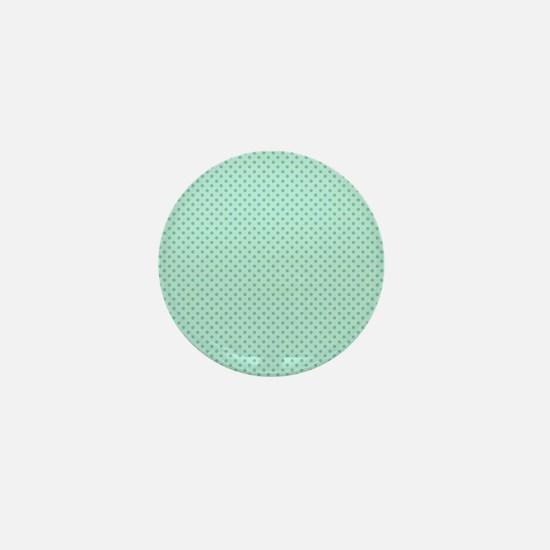 Cute Girly Mint Green Polka Dots Mini Button