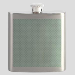 Cute Girly Mint Green Polka Dots Flask