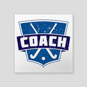 Field Hockey Coach (blue) Sticker