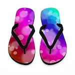 Rainbow Bokeh Pattern Flip Flops