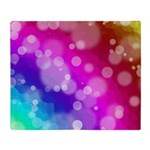 Rainbow Bokeh Pattern Throw Blanket