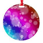Rainbow Bokeh Pattern Ornament