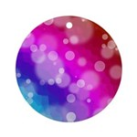 Rainbow Bokeh Pattern Ornament (Round)