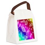 Rainbow Bokeh Pattern Canvas Lunch Bag