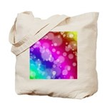 Rainbow Bokeh Pattern Tote Bag