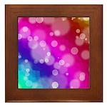 Rainbow Bokeh Pattern Framed Tile