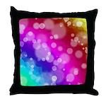Rainbow Bokeh Pattern Throw Pillow