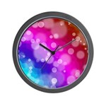 Rainbow Bokeh Pattern Wall Clock