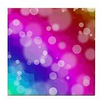 Rainbow Bokeh Pattern Tile Coaster