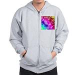 Rainbow Bokeh Pattern Zip Hoodie