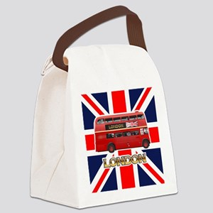 The London Bus Canvas Lunch Bag