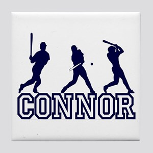 Baseball Connor Personalized Tile Coaster