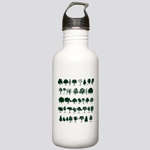 Tree Silhouettes Green 1 Sports Water Bottle