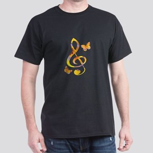 Modern watercolor treble clef and butterfl T-Shirt