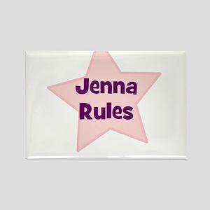 Jenna Rules Rectangle Magnet