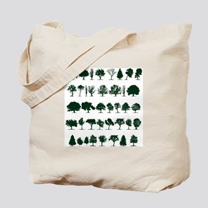 Tree Silhouettes Green 1 Tote Bag