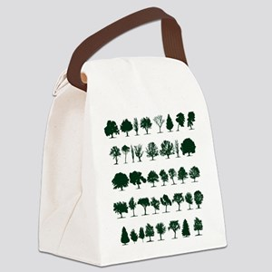 Tree Silhouettes Green 1 Canvas Lunch Bag