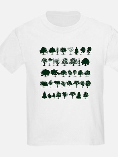 Tree Silhouettes Green 1 T-Shirt