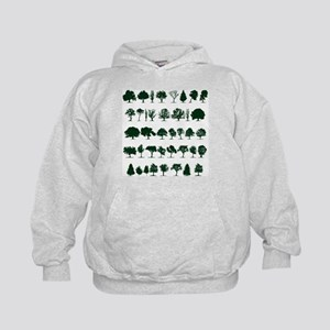 Tree Silhouettes Green 1 Hoody