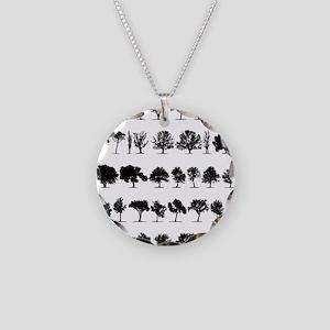 treesmisc Necklace Circle Charm