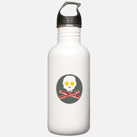 Bacon and Eggs Skull and Crossbones Water Bottle
