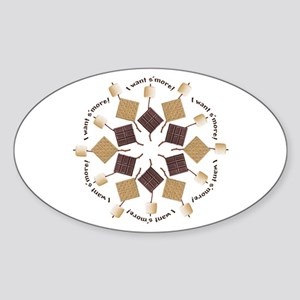 S'mores Snowflake! Sticker (Oval)