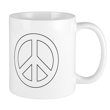 White Peace Sign Mug