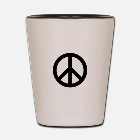 Black Peace Sign Shot Glass