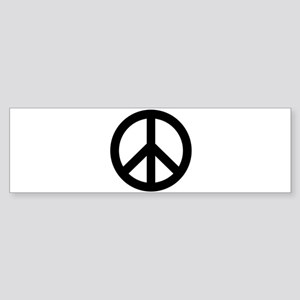 Black Peace Sign Bumper Sticker