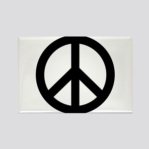 Black Peace Sign Rectangle Magnet