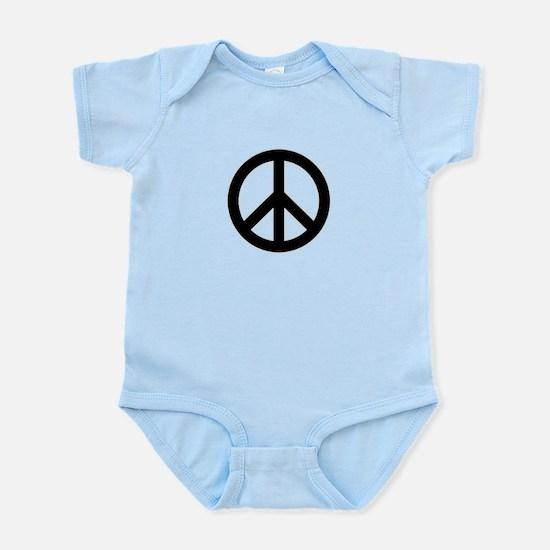 Black Peace Sign Body Suit
