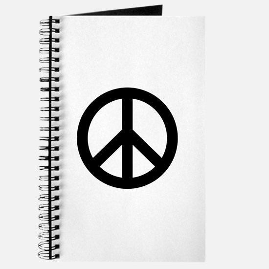 Black Peace Sign Journal