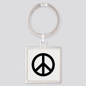 Black Peace Sign Keychains