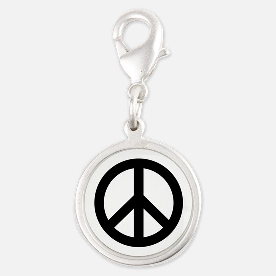 Black Peace Sign Charms