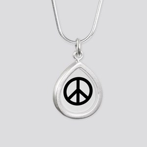 Black Peace Sign Necklaces