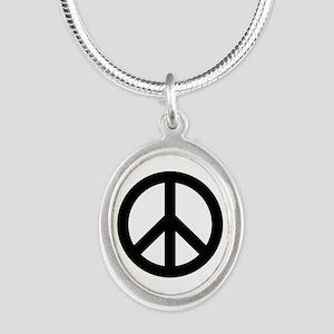 Black Peace Sign Necklaces