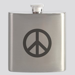 Black Peace Sign Flask