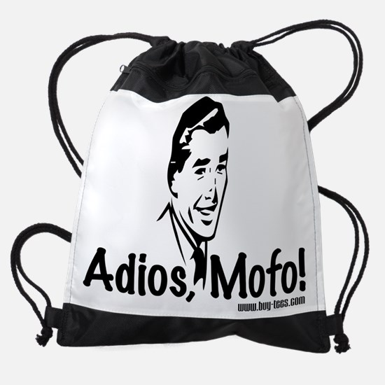 Adios Mofo Drawstring Bag