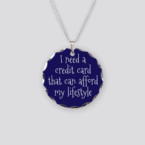 Affordable Credit Card Necklace Circle Charm