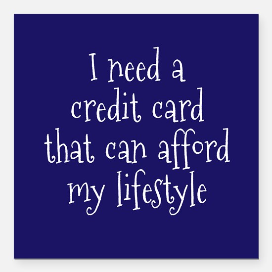 "Affordable Credit Card Square Car Magnet 3"" x 3"""