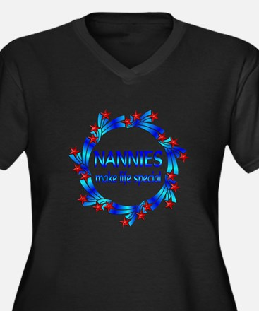 Nannies are Special Women's Plus Size V-Neck Dark