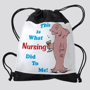 2-What Nursing 10x10 Drawstring Bag