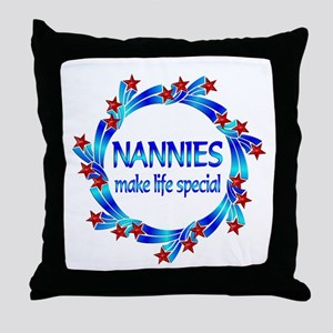 Nannies are Special Throw Pillow