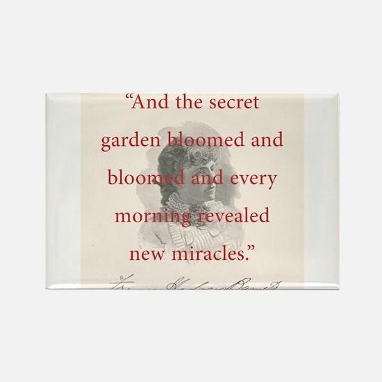 And The Secret Garden Bloomed - FH Burnett Magnets